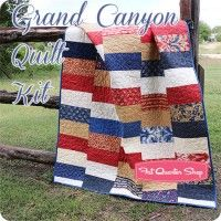 Love this fabric and this simple design...Grand Canyon Quilt KitFeaturing Polka Dots & Paisleys by Minick & Simpson
