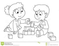 Kids Playing Coloring Page - Kids Playing Coloring Page , Coloring Book or Page for Children Of School and Preschool Age Developing Children S Coloring Vector Cartoon Illustration with Cute Mole Spring Coloring Pages, Dog Coloring Page, Halloween Coloring Pages, Coloring Pages For Kids, Coloring Books, Art Drawings For Kids, Easy Drawings, Valentines Day Coloring Page, Kids Pages