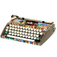 """Shelf Life"" Cursive Olympia Typewriter"