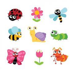 Insecte   Vecteurs, Photos et PSD Gratuits Design Your Own Stickers, Custom Stickers, Animals Images, Art Plastique, Background Patterns, Vector Art, Vector Design, Ladybug, Bugs