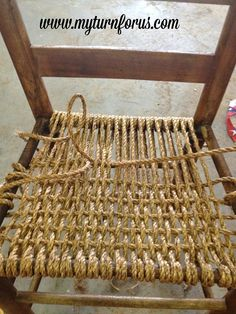 Weave and restore a hemp seat on a chair