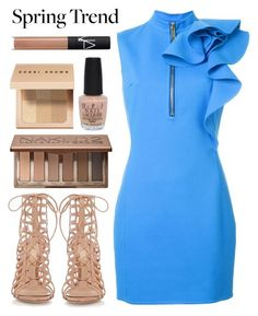 """""""What a Frill: Ruffles"""" by gold-candle23 ❤ liked on Polyvore featuring Dsquared2, Urban Decay, OPI, Bobbi Brown Cosmetics, NARS Cosmetics and Gianvito Rossi"""