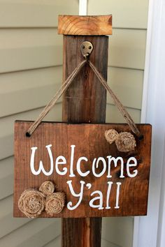 I love the idea of having a post for a sign or any decoration for the season.