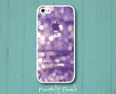 iPhone 5 Case, iPhone 5S Case - Violet Glitter /  iPhone 5S Case, iPhone 5S Cover, Cover for iPhone 5S, Case for iPhone 5S