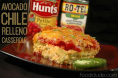 This Avocado Chili Relleno Casserole makes our Mexican inspired Family Night a hit with a little help from Hunt's & RO*TEL! #ad #YesYouCAN #CollectiveBias #cbias