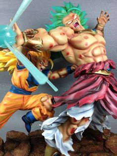 Dragonball Kai Goku 3 VS Broly 3 Battle Scene Resin Statue Diorama NEW IN STOCK