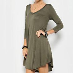 Olive Me Dress- Olive Green