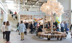 ReTuna Återbruksgalleria, or ReTuna Recycling Galleria, in Eskilstuna, Sweden sells reclaimed or upcycled goods for a climate-friendly way of shopping.