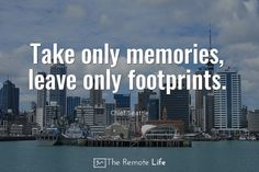 travel quote memories footprints remote life