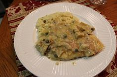 Parmesan Crusted Tilapia With Lemon Caper Sauce