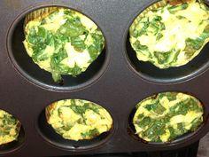 Spinach, feta & egg cupcakes