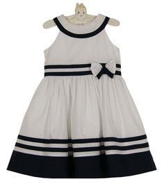 NEW Sarah Louise Navy and White Sailor Dress $70.00