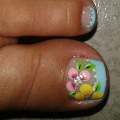 Flores Manicure Y Pedicure, Toenails, Toe Nail Art, Nail Art Designs, Beauty, Feet Nails, Fairy, Work Nails, Pretty Toe Nails
