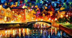 BRIDGE OVER DREAMS - LEONID AFREMOV by *Leonidafremov on deviantART