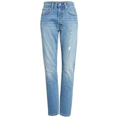 Women's Levi's 501 High Waist Skinny Jeans (€83) ❤ liked on Polyvore featuring jeans, blue jeans, high rise jeans, high waisted denim jeans, denim jeans and levi jeans