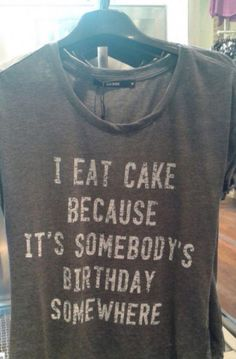Eat some cake... It's my birthday.