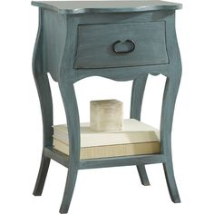 Perfect for stowing bedside essentials and flanking your master bed in a pair, this lovely nightstand showcases a scalloped apron and lower display shelf.