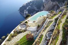The Monastero Santa Rosa Hotel & Spa, once a monastery, sits on the edge of the Amalfi Coast, Italy. Love the Amalfi Coast - would love to spend more time there and this looks like the perfect place! Places To Travel, Places To See, Travel Destinations, Amalfi Coast, Amalfi Italy, Hotel Amalfi, Capri Italy, Tropea Italy, Tuscany Italy