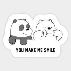 We Bare Bear Stickers Wallpaper Stickers, Anime Stickers, Bear Wallpaper, Phone Stickers, Cute Little Drawings, Cute Drawings, Bubble Stickers, Cute Stickers, Bullet Journal Banner