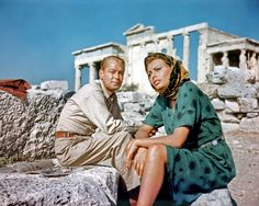 Sophia Loren and Alan Ladd at the Acropolis.