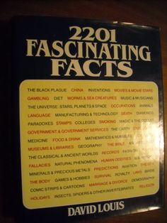 2201 Fascinating Facts by David Louis (1983) Volume One ~~ For Sale At Wenzel Thrifty Nickel eCRATER store