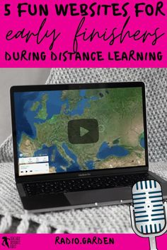 What do you do when your students have finished their distance learning tasks? Remote learning can be challenging as you try to ensure all your students are learning, progressing and occupied. It can be difficult to find suitable and fun virtual learning activities to issue as extension work for your early finishers. Keep reading to learn 5 creative ideas for your early finishers during a distance, hybrid or blended learning classroom! radio.garden Free Teaching Resources, School Resources, Learning Activities, Teaching Ideas, Teacher Blogs, New Teachers, Radio Garden, School Direct, High School Classroom
