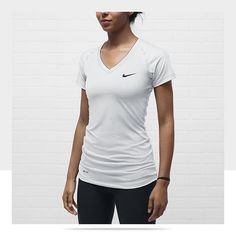 Nike Pro Essentials Fitted V-Neck Women s Shirt  30 (reviews says it runs  very 1729e585d3