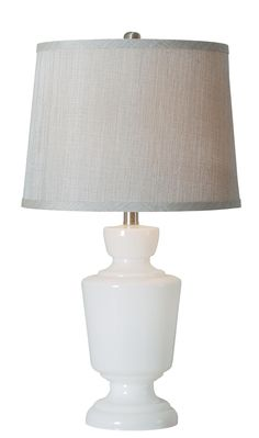 Aniston Table Lamp - Crisp, clean, with a metallic shimmer from a Silver drum shade, Aniston has an elegant expression and a modern cool appeal.