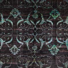 "Contemporary Silk Rug - 9'9""x13'11"""