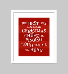 Easy way to get your picture frames festive- frame your favorite Christmas movie quotes!
