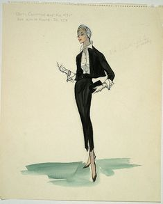 edith head sketches : Betty Compton