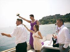Wedding on a speedboat