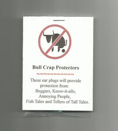 New Homemade Bull Crap Protectors Novelty Gag Gift Prank Joke Party Favor | eBay