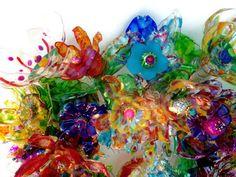 CHihULy inspired plastic bottle flower door by ArtePlastique