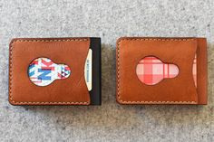 New Bi fold Wallet with quick draw card slot by bRainbowshop