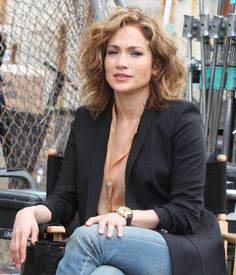 Jennifer Lopez seen filming scenes for the NBC TV series 'Shades