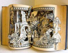 Alice in Wonderland altered book antique von Raidersofthelostart