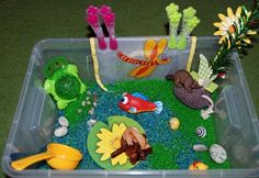 Pond Sensory Bin from Than Myself
