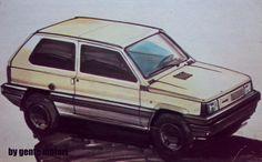 OG |1980 Fiat Panda |Design sketch dated 1976