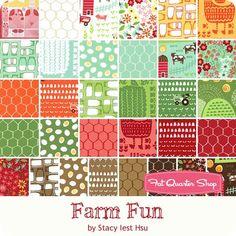 Farm Fun Half Yard Bundle Stacy Iest Hsu for Moda Fabrics - Farm Fun - Moda Fabrics   Fat Quarter Shop