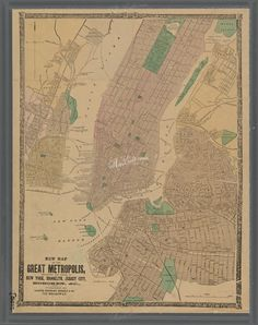 New york city map 1944 new york city manhattan street map vintage 0426 new map of the great metropolis including the cities of new york malvernweather Gallery