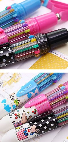 Fun multicolour pens - like I had as a kid!