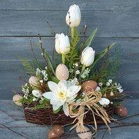 Easter Flower Arrangements, Easter Flowers, Spring Flowers, Easter Bunny Decorations, Easter Wreaths, Flower Shop Decor, Container Flowers, Flower Arrangements, Xmas