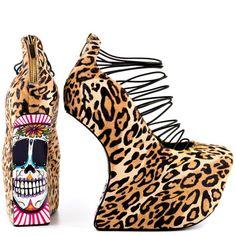 489a60adc06 Taylor Says Calavera - Leopard Punk Shoes