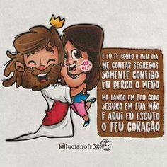 Ooh meu Deus que lindo 😍❤ Bible Art, Bible Verses, Bible Cartoon, Jesus Father, Jesus Artwork, Jesus Wallpaper, Brave Quotes, Human Drawing, Jesus Loves Me