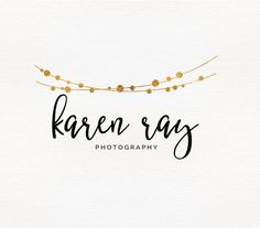 Beautiful premade logo with watermark, Calligraphy logo, Gold foil logo, Business logo, Cute logo, Party Logo