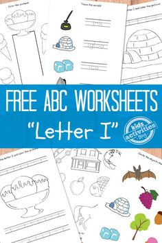 Letter I Worksheets Free Kids Printable
