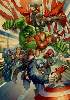 The Avengers by Marc Silvestri.