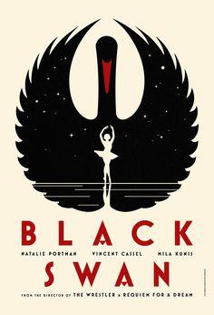 """Black Swan"" movie poster, reminiscent of Soviet-era propaganda (Source: http://suchandrika.wordpress.com/2010/10/22/gorgeous-black-swan-posters/)"