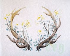 Image result for elk with flowers